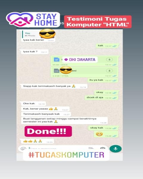chat26-Testimoni Pengerjaan Tugas Komputer Mengenai HTML (Universitas di DKI Jakarta)