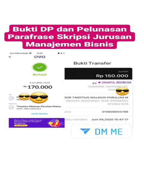 tf23-Bukti Pembayaran Jasa Parafrase Skripsi Jurusan Manajemen Bisnis (Universitas di Jakarta)