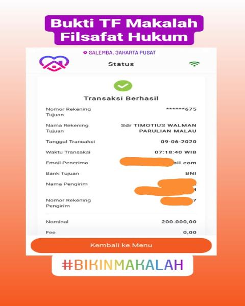 tf27-Bukti Pembayaran Jasa Pembuatan Makalah Mengenai Filsafat Hukum (Universitas di Medan, Sumatera Utara)