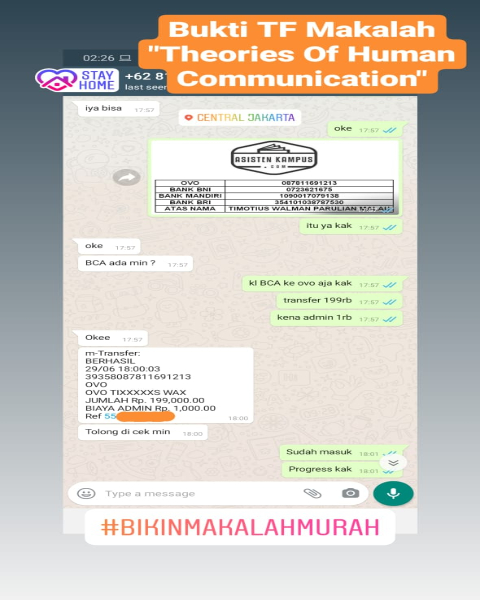 tf30-Bukti Pembayaran Jasa Pembuatan Makalah Mengenai Theories Of Human Communication (Universitas di Jakarta Pusat)